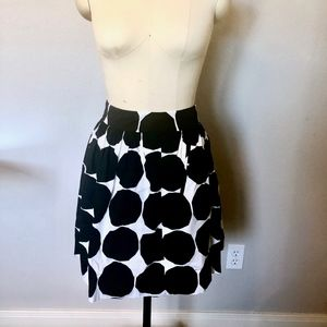 Black & White Polkadot Skirt Banana Republic